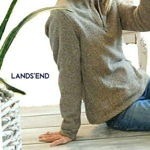 LANDS END WOMENS SOFT LONG SLEEVE HALF ZIP
